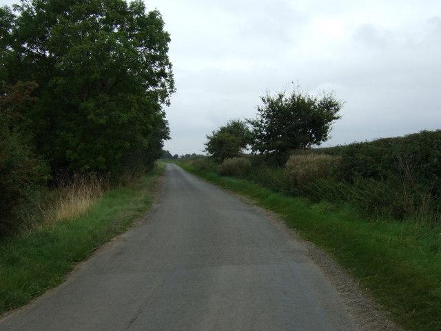 Lane towards Linwood