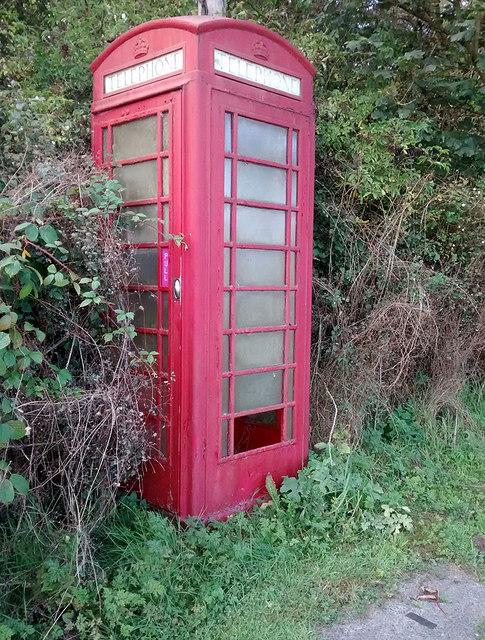 Unloved phone box