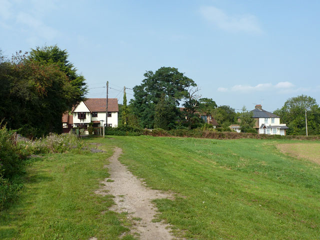 Bridleway nears Mount Bovers Lane