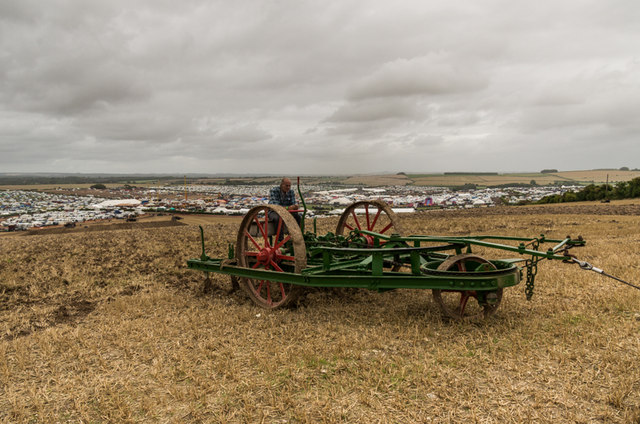 Steam ploughing demonstration at the Great Dorset Steam Fair 2014