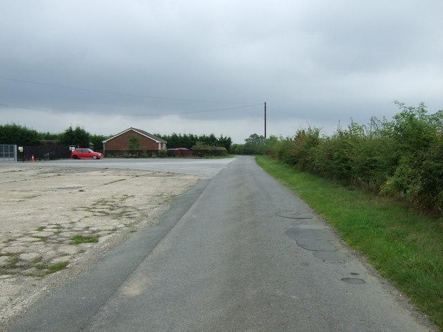 Lane near poultry farm