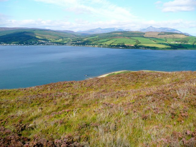 View from the north slopes of Mullach Beag on Holy Isle