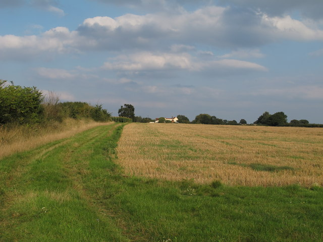 Recently harvested field near Frame Farm, Tolleshunt D'arcy