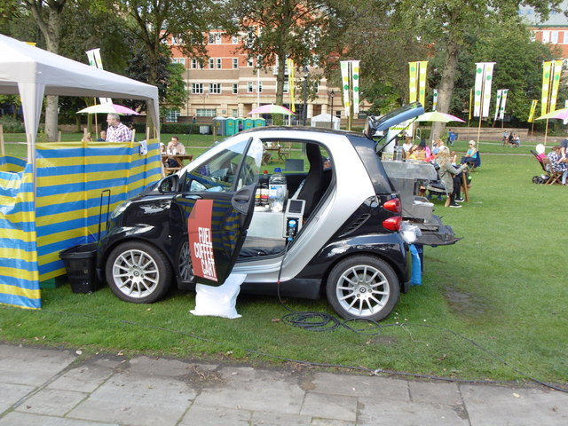 Fuel Coffee Cart in Queen's Gardens, Hull