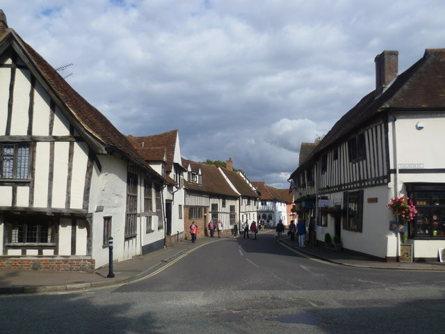 Looking down Water Street, Lavenham
