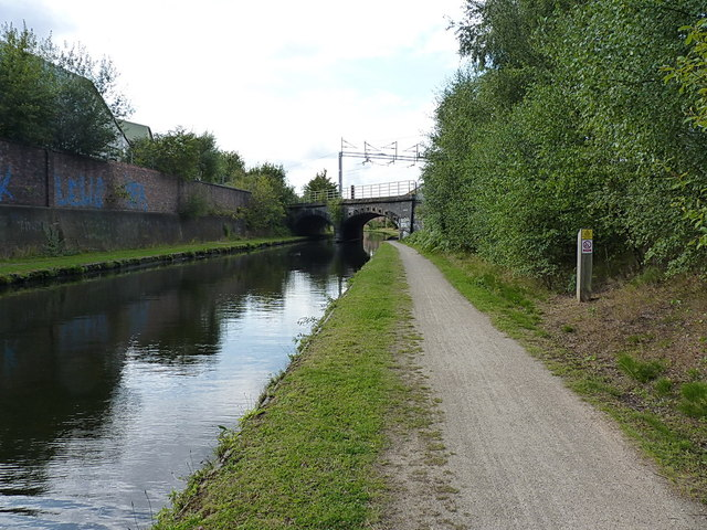 Railway Main Line crosses canal Main Line