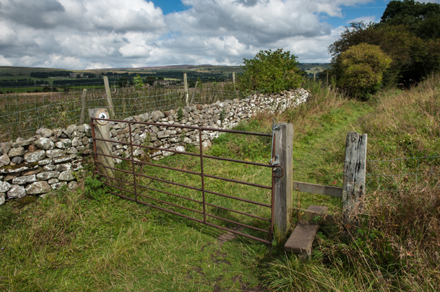 Gate and Stile on Track to Low Thoresby