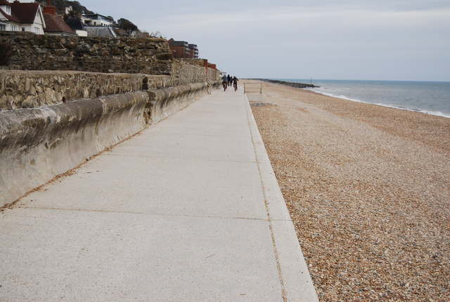 National Cycle Route 2 and seawall