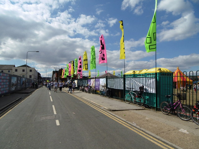 Flags on Humber Street, Hull
