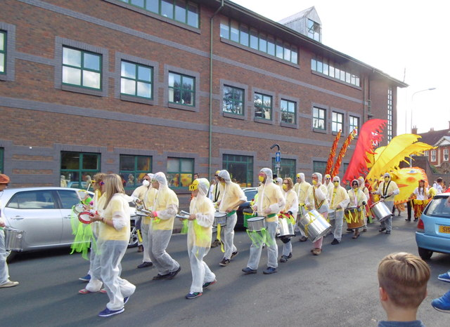 Freedom Festival Parade on Guildhall Road, Hull