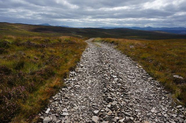 Estate track, Upper Gleann a' Chrombaidh