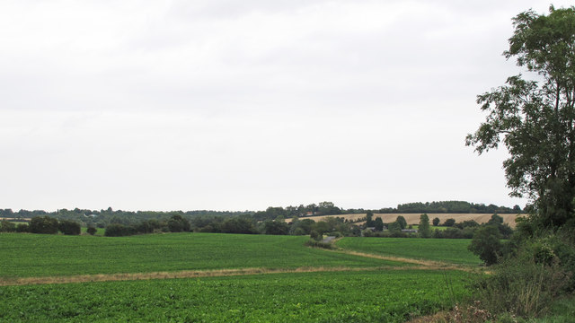 View from Market Hill across the fields, Clopton