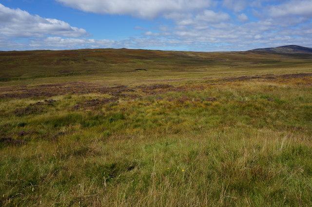 View looking up Gleann a' Chromaidh