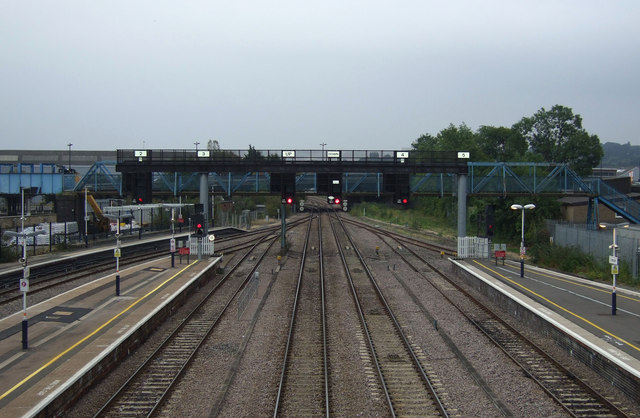 Railway heading south east from Lincoln Railway Station