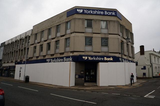 Yorkshire Bank on Bethlehem Street, Grimsby