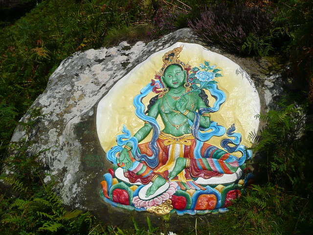 Buddhist painting/carving on Holy Isle