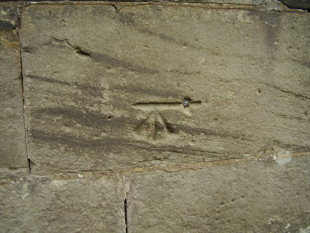 Benchmark on Wychnor Hall Bridge