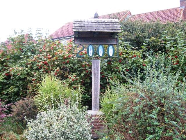 Shadoxhurst Millennium Sign