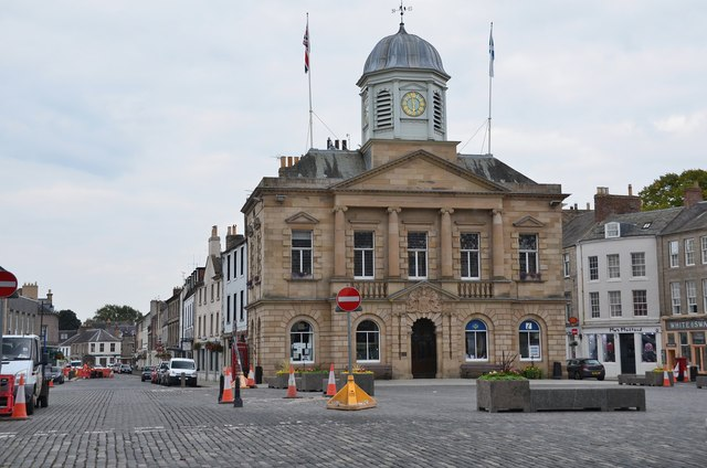 Town Hall and square, Kelso