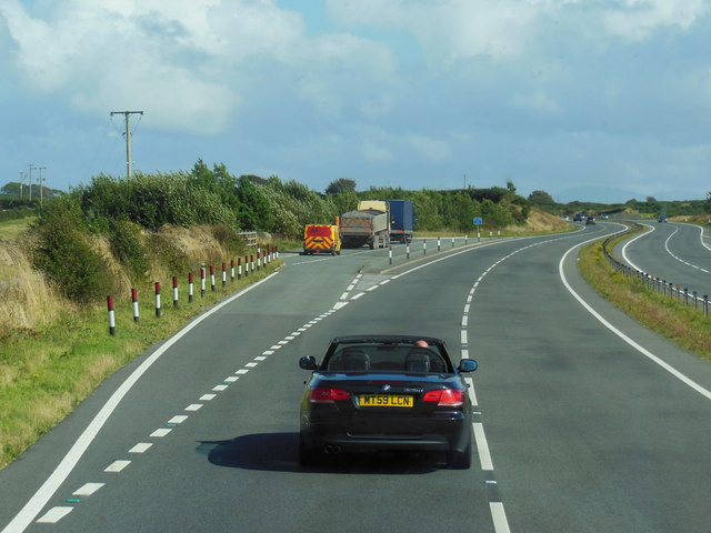 Layby on  the A55 North Wales Expressway