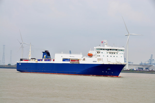 The Norsky passes Tilbury -
