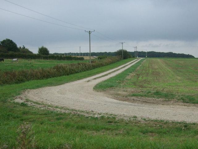 Track to Newball Grange