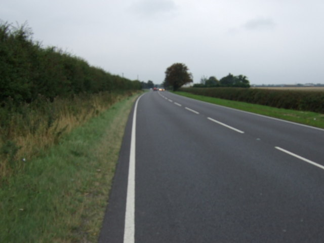 A158 heading south west