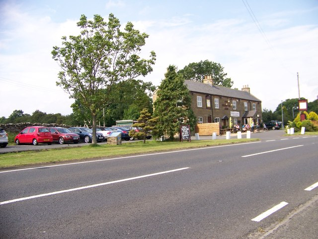 The Errington Arms at the junction of the A68 and B6318