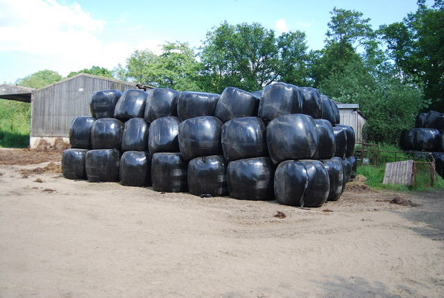 Wrapped bales, Oast Farm