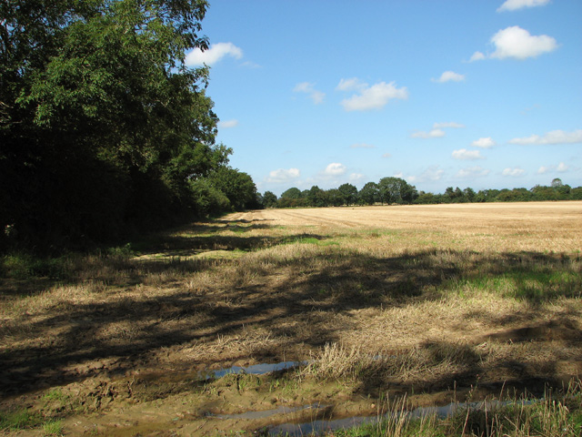 Stubble field north of Woful Green