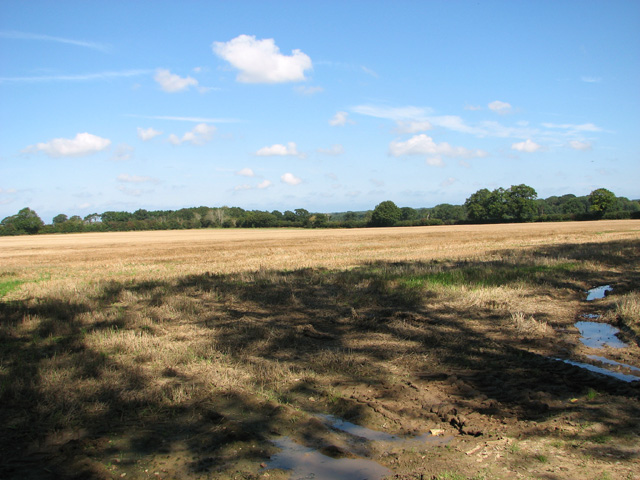 Stubble field by North Farm