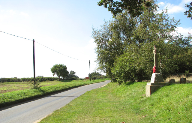 The war memorial beside Skeyton church