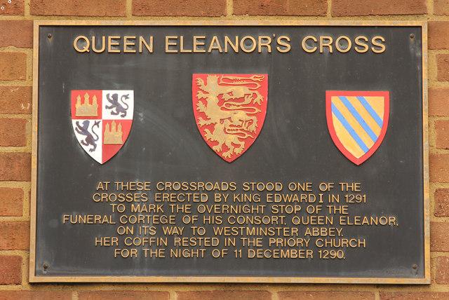 Eleanor Cross plaque