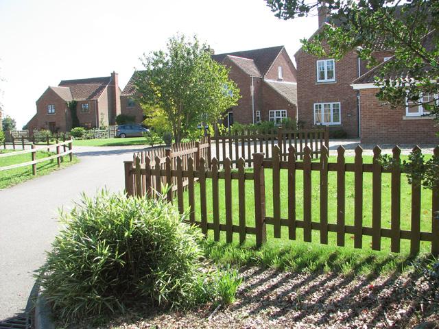 New housing in Tuttington