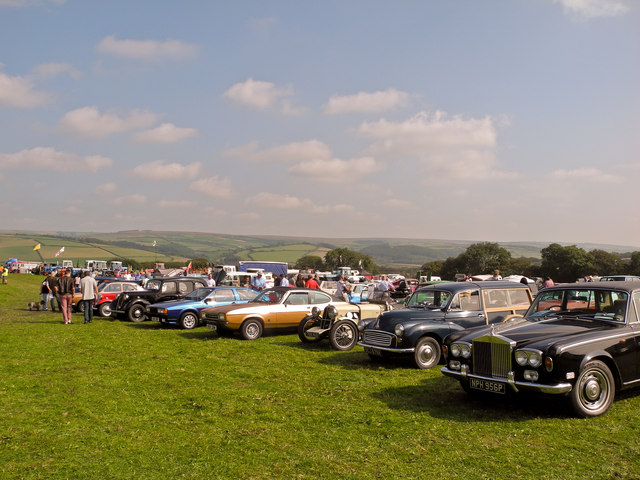 The South Molton Classic Car Rally at Combesland Cross