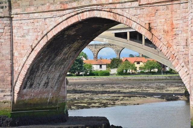 Three bridges, Berwick-upon-Tweed
