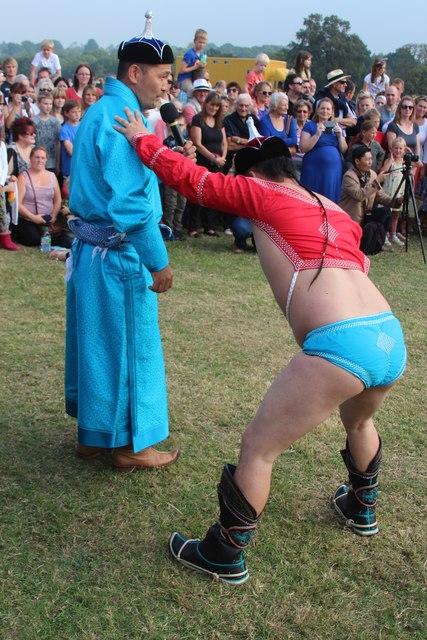 Mongolian wrestling at Hole Park