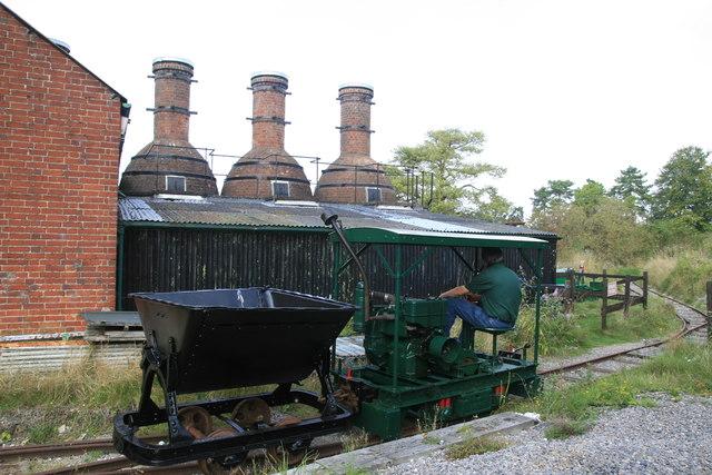 Twyford Pumping Station - lime kilns and industrial railway