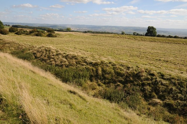 View to the south from Kemerton hill fort