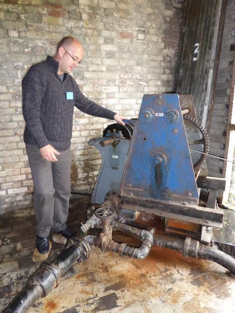 Twyford Waterworks - hydraulic haulage engine