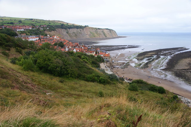 Robin Hood's Bay from the path to Boggle Hole