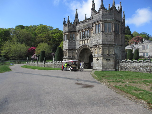 Arriving at Lanhydrock Gatehouse