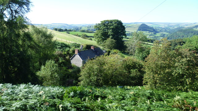 Secluded property from Offa's Dyke Path