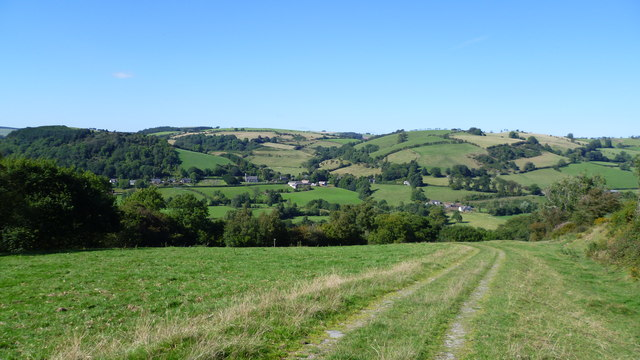 On Offa's Dyke Path overlooking the Clun valley near Newcastle-on-Clun