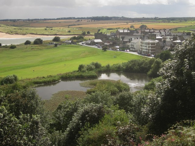 View to Alnmouth from Alnmouth Common