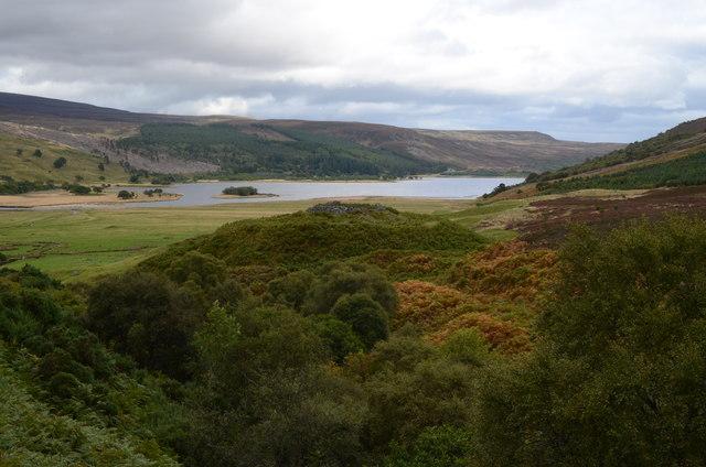Kilbraur Broch at Loch Brora in Sutherland