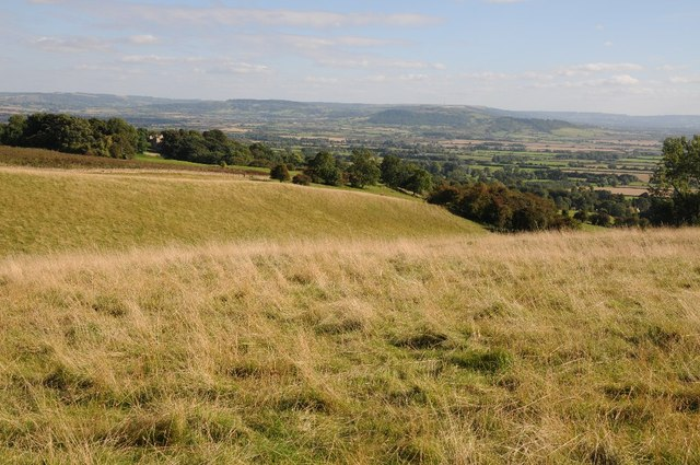Grazing land on Bredon Hill