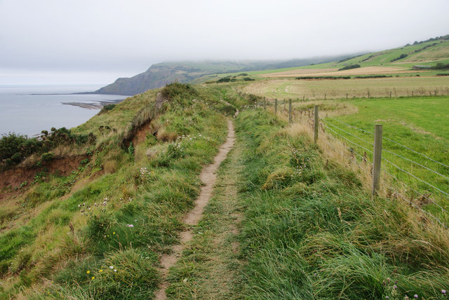 Coastal path on Peter White Cliff