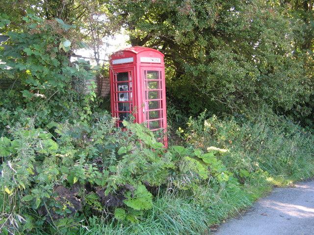 Nearly hidden Country Phone Box