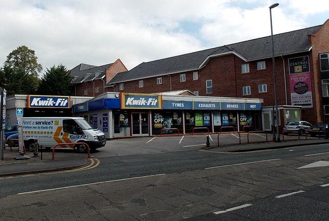 Kwik-Fit shop and van in Wilmslow